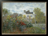 The Artist's Garden in Argenteuil, c.1873 Posters by Claude Monet