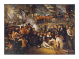 Horatio Nelson Is Fatally Wounded at the Battle of Trafalgar Giclee Print
