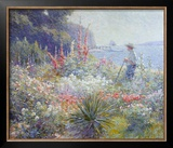 Mrs. Mayer's Garden Poster by Abbott Fuller Graves