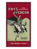Fry's Cocoa - No Better Food Giclee Print
