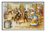 French Aristocrats Dance in the Ballroom of a Chateau Giclee Print