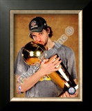 Pau Gasol Game Five of the 2009 NBA Finals With Championship Trophy Framed Photographic Print