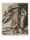 He Pays a Flying Visit to Abraham Lámina giclée