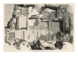 Inscription Carved in Old Persian, Babylonian, and Elamite Cuneiform on the Rock of Bisutun Giclee Print
