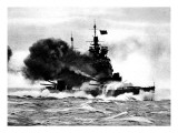 HMS 'Duke of York' Firing a Broadside; Second World War Giclee Print
