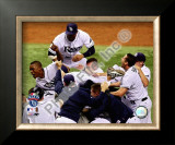 B.J. Upton Game 7 of the 2008 ALCS Celebration Framed Photographic Print