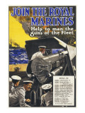 Join the Royal Marines Recruitment Poster for the Navy Giclee Print