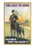 Inspiring Recruitment Poster Encouraging Irish Men to Answer the Call to Arms and Join Up Giclee Print