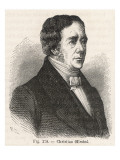 Hans Christian Oersted Danish Physicist Giclee Print