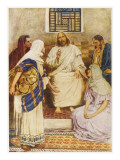 Jesus with the Sisters Mary and Martha at Bethany Giclee Print