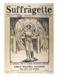 "Front Cover of ""The Suffragette"" Dedicated to Emily Davison, Giclee Print"