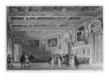 Interior of the Palace of Fontainebleau During the Reign of Louis Xiii Giclee Print