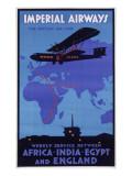 Imperial Airways Poster Wydruk giclee