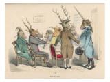 Guests at a Stag Party Welcome the Arrival of the Unicorn Giclee Print