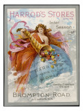 Harrod's Stores - Serving the World Giclee Print