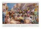 Flower Sellers - Cape Town, South Africa Giclee Print