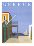 Greece Travel Poster Giclee Print
