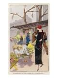 Flower Market Paris Giclee Print