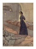 Florence Nightingale at Scutari in the Crimea, Checking on Patients During the Night Giclee Print