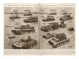 German Armoured Vehicles; Second World War, 1944 Giclee Print
