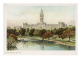 Glasgow University, Viewed from across the Water Giclee Print