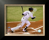 B.J. Upton Game 2 of the 2008 MLB World Series Framed Photographic Print