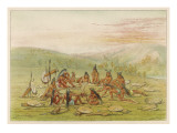 Group of Mandan Men with their Weapons Giclee Print