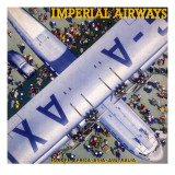 Imperial Airways Bird's Eye View Giclee Print