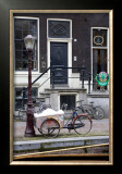 Bicycle by the Street Light, Amsterdam Prints by Igor Maloratsky