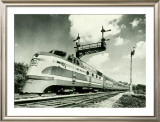 Railroad Train Engine Framed Giclee Print