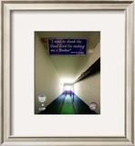 Yankee Stadium dugout Tunnel Final Game September 21, 2008 Framed Photographic Print