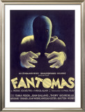 Fantomas, Sci-Fi Movie Poseter Framed Giclee Print