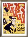Buster Keaton, Speak Easily Framed Giclee Print