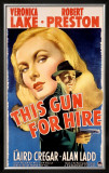 Veronica Lake in This Gun for Hire Framed Giclee Print