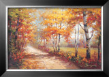 Autumn Walk II Poster by Stephen Douglas
