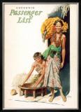 Lurline Passenger List, Women with Bananas Framed Giclee Print