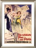 Die Schonste Frau Von Paris Framed Giclee Print by W. Dietrich