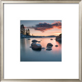 Sand Harbor Sunset Art by Elizabeth Carmel