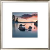 Sand Harbor Sunset Art by Elizabeth Carmel