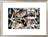 Japanese Shrine Wishes Framed Giclee Print by Petra Wels
