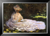 Woman Reading Posters by Claude Monet