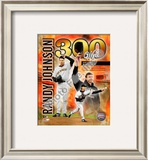 Randy Johnson - 300th Win Framed Photographic Print