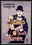 Charlie Chaplin, Charlie's Karriere Framed Giclee Print