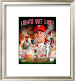 "Brad Lidge ""Lights Out Lidge"" Framed Photographic Print"