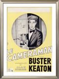 Le Cameraman with Buster Keaton Framed Giclee Print