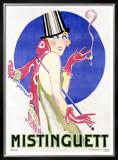 Mistinguett Framed Giclee Print by Charles Gesmar