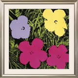 Flowers, c.1970 (1 Purple, c.1 Yellow, 2 Pink) Poster by Andy Warhol