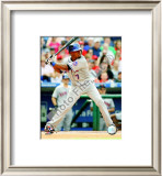 Jose Reyes 2008 Batting Action Framed Photographic Print