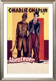 Charlie Chaplin, Abenteuer Framed Giclee Print