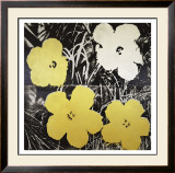 Flowers, c.1966 (Yellow and White) Art by Andy Warhol